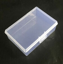 Small Transparent Plastic Storage Box Clear Square Multipurpose Display Case U