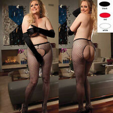 Plus Size Lingerie Queen Black Red or White Fishnet Pantyhose SOHX90242