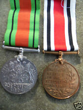 WW2 DEFENCE MEDAL AND SPECIAL CONSTABULARY LONG SERVICE MEDAL