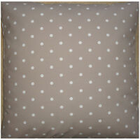 """NEW Large 24"""" Floor Cushion Cover Taupe Mushroom Brown White Polka Dots Spots"""