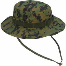 18f297b372c89 Rothco Boonie Hat 5827 Woodland Digital Military Style Cotton Polyester  Greens 7 1 4