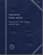 Canadian Fifty Cents 1870-1910 Whitman Folder #9070