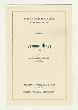 1958 Jerome Hines Alexander Alexay State Teachers' College West Chester Program