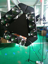 9 eyes full color led triangle beam moving head light 12w 4in1 beam spider light