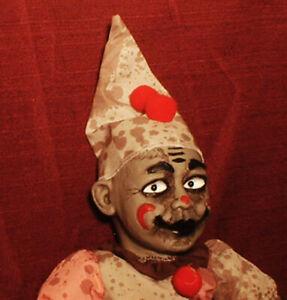 "HAUNTED Creepy Clown Doll ""EYES FOLLOW YOU"" Halloween prop"