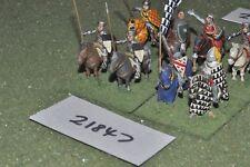 25 mm Medievale/inglese-Men at arms 8 Fichi CAVALLERIA-CAV (21847)
