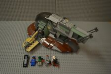 Lego Star Wars Slave 1 6209 Complete with Minifigs 2006 GLUED See description