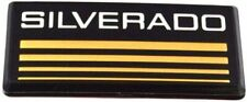 1x Cab Emblems 3d Badge Side Roof Pillar Decal Plate For Chevy Silverado Yellow