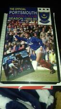 the official Portsmouth football club fc season 1989 to 1990 vhs video rare...