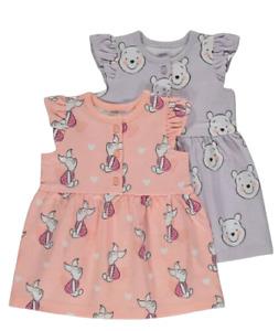 Baby Girls  Winnie The Pooh Cotton Dresses x 2
