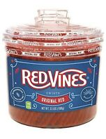 Red Vines Licorice, Original Red Flavor 3.5LB Bulk Jar Soft & Chewy Candy Twists