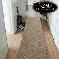 THICK CHEAP RUNNER HALLWAY PLAIN brown 888 CORRIDOR width 50-200 cm RUGS Carpets