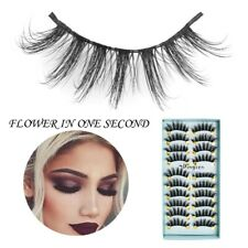 Wholesale 10 Pairs Handmade Faux Mink 3D False Eyelashes Cross Thick Long Lashes