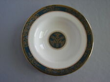 """Royal Doulton England CARLYLE 8-1/16"""" Rimmed Soup Bowl Teal Band Gold"""