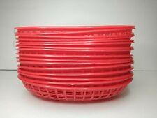 New listing Set 16 Red Bbq Plastic Deli Basket Sandwich Burger Hot Dog Picnic Serving Trays