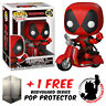 FUNKO POP VINYL RIDES MARVEL DEADPOOL ON SCOOTER RIDE + FREE POP PROTECTOR