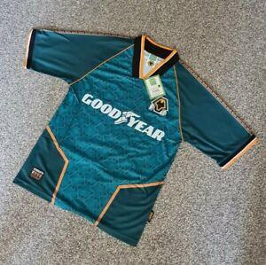 Mens Score Draw Retro Wolves Football Shirt 1996 Away Size M - BNWT