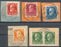 Bayern Lot mit 5 Briefstücken (Michel EURO 20,00) feinst
