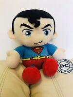 "SUPERMAN SOFT TOY DC COMICS 11"" PLUSH SOFT TOY FIGURE WITH CAPE"