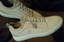Mark nason Men Sneakers Shoes Beige leather Knit size 14 slip on
