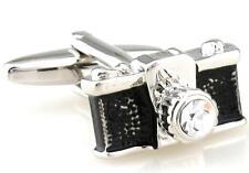 Camera Cufflinks Photographer Photo Groom Dad SLR Picture Wedding Fancy Gift Box