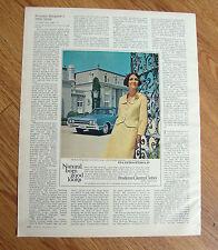1965 Pendleton Country Clothes Ad  Oldsmobile Cutlass Supreme Hardtop Sedan