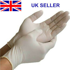 Medical Latex Disposable Gloves Powder Free Food Safe Latex White/Blue
