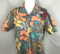 Vans Joel Tudor Reverse Print Floral Short Sleeve Aloha Camp Shirt Mens M