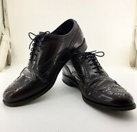 FLORSHEIM STYLE # 76402 MEN'S BURGUNDY WINGTIP DRESS SHOES SIZE US 8,5 D
