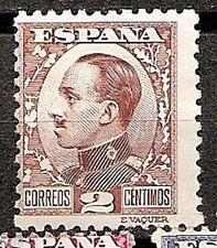 Spain Edifil # 490 * MNG Sin goma Vaquer de perfil Alfonso XIII