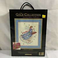 """Dimensions The Gold Collection """"Angel Of Spring"""" Counted Cross Stitch Kit, New"""