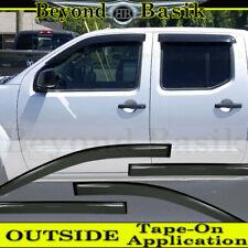 For 2005-2020 Nissan Frontier Crew Cab Smoke Door Vent Visors 4Pc Rain Guards (Fits: Nissan)