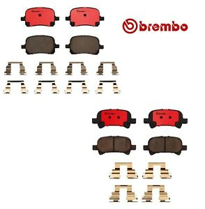 For Toyota Avalon Camry Solara Front Rear Disc Brake Pads Ceramic Set Kit Brembo