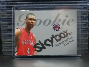 2004 Fleer SkyBox Autographics Chris Bosh RC Rookie #050/150 Z23