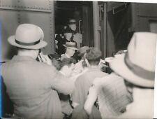 BETTE DAVIS Original CANDID Boston Train Station Vintage 1940 Press Photo