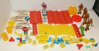 Vintage Tonka Construction Playset For Parts Action Figure Pieces Sign Pipe Road