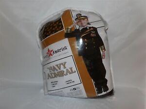 Large 12-14 Dress Up America Navy Admiral Military Uniform Child Costume
