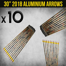 "10x 30"" Aluminium Camo Arrows for Compound or Recurve Bow Target Archery"