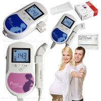 bolsillo Fetal Doppler 3Mhz Sonda Monitor de frecuencia cardíaca prenatal+Gel