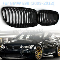 Gloss Black Hood Front Kidney Grille Grill For BMW E90 328i 335i 4D