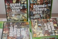 (NEW SEALED) GRAND THEFT AUTO IV SAN ANDREAS XBOX 360 GAME LOT