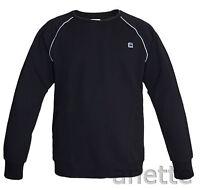 G-STAR RAW MIDDER BNWT Black Mens Sweatshirt Embroidered Logo Ribbed Trim