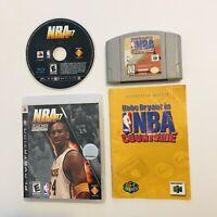 Kobe Bryant NBA Courtside Authentic Nintendo 64 Game N64 & NBA 07 PlayStation 3