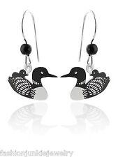 Loon Earrings - 925 Sterling Silver Ear Wires - NEW Minnesota MN Bird Baby