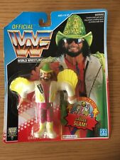 VINTAGE 1992 WWF HASBRO MACHO MAN RANDY SAVAGE  SERIES 5 ACTION FIGURE - MOC