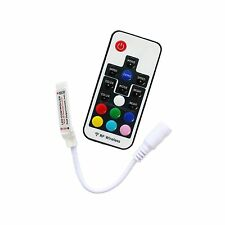 Mini 17 Keys 5V-24V 12A RF Wireless Remote Dimmer RGB Controller 5050 LED Strip