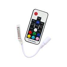 Mini 17 Keys 5V-24V 12A RF Wireless Remote Dimmer RGB Controller 5050 LED Strip