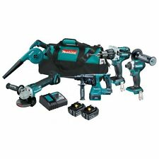 Makita 18V 5 Piece Brushless Combo Kit Rotary Hammer drilll AUS MODEL 5.0AH