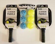 Franklin Challenger Pickelball Aluminum Paddle Set - 2 Paddles 3 X26 3 X40 Balls
