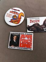 3 Pin Lot 90s Video Store VHS Promo Movie Buttons BUDDY AIR FORCE ONE FIEVEL